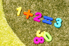 Playing with numbers Royalty Free Stock Images