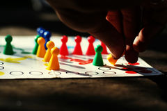 Playing an old board game Stock Photography