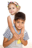 Playing older brother and sister Royalty Free Stock Photography