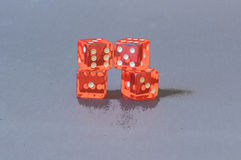 Playing orange dices Royalty Free Stock Images