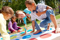 Playing outdoors royalty free stock photography