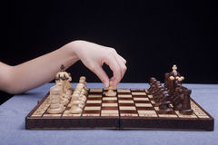 Playing the pawn first. Royalty Free Stock Photo