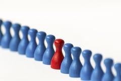 Playing pawns on white Stock Photo