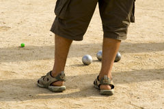 Playing Petanque Royalty Free Stock Photography