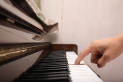 Playing piano Stock Photos