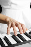Playing piano Royalty Free Stock Photo