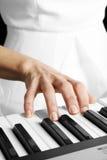 Playing piano royalty free stock photo