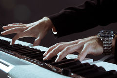 Playing the piano royalty free stock photography