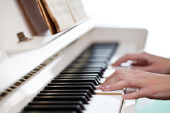 Playing Piano Royalty Free Stock Photos