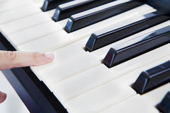 Playing the piano Royalty Free Stock Images
