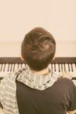 Playing piano Stock Photos