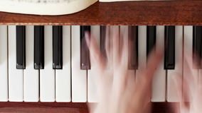Playing The Piano in Blurred Motion stock footage