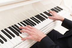 Playing piano. Stock Photography
