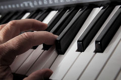 Playing Piano royalty free stock images