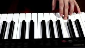 PLaying a Piano stock video