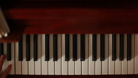 Playing The Piano in Motion stock video footage