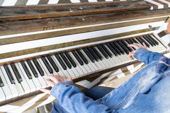Playing the piano Royalty Free Stock Photo