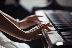 Playing piano Royalty Free Stock Image