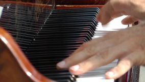 Playing Piano stock video footage