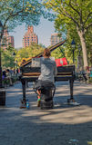 Playing piano at Washington Square Garden New York Royalty Free Stock Photography