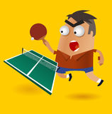 Playing Ping Pong royalty free illustration