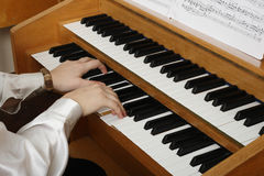 Playing pipe organ Stock Images
