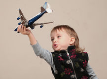 Playing with plane Stock Photos