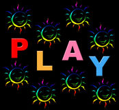 Playing Play Indicates Free Time And Kid Royalty Free Stock Image