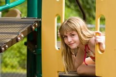 Playing at the Playground Royalty Free Stock Photography