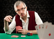 Playing poker Royalty Free Stock Photos