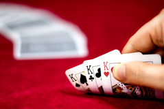 Playing Poker Royalty Free Stock Photos