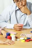 Playing poker Stock Image