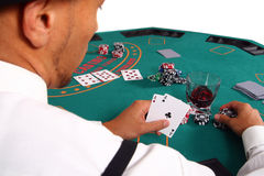 Playing Poker royalty free stock image