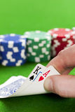 Playing poker Royalty Free Stock Images