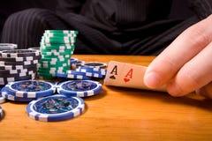 Playing poker Stock Photos
