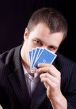 Playing poker Royalty Free Stock Photo