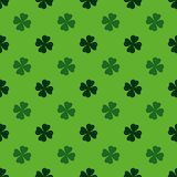 Playing, poker, blackjack cards symbol .Clover pattern green.  Stock Images