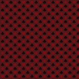 Playing, poker, blackjack cards symbol seamless pattern red Stock Photos