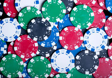 Playing Poker Chips background Stock Photo