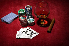 Playing poker concept Royalty Free Stock Photos