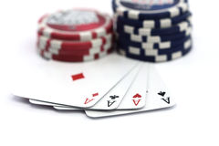 Playing poker concept. Royalty Free Stock Images