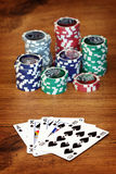 Playing poker concept Stock Image