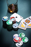 Playing poker concept Royalty Free Stock Images