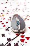 Playing poker Royalty Free Stock Image