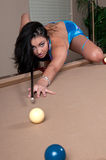 Playing Pool Royalty Free Stock Images
