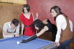 Playing pool Royalty Free Stock Photos