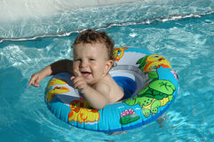 Playing in the pool Royalty Free Stock Photo