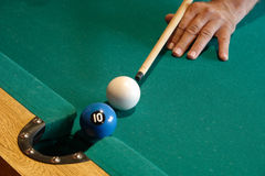Playing pool Royalty Free Stock Image