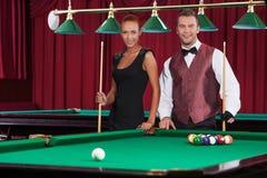 Playing pool. Stock Photos