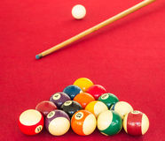 Playing pool ,Billiard Stock Photography